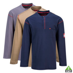 Flame Resistant Henley (button down) T-Shirt, PFR02