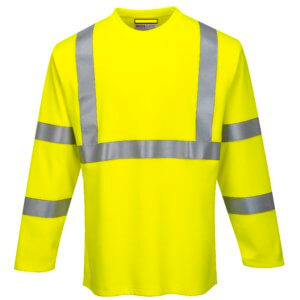High Visibility Flame Resistant Long Sleeve T Shirt, PFR96