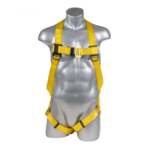 Fall Protection Harness 3pt., Pass-Thru Legs, Back D-Ring