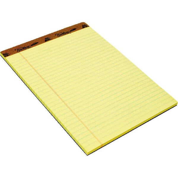 Canary Letter Size Note Pad