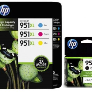 HP 950XL/951XL High Yield BK/C/Y/M Ink Cartridges,4PK, CR318BN, CN045AN