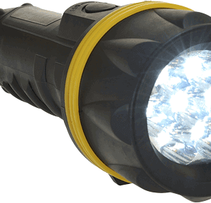 7 LED Rubber Flashlight – Water Resistant