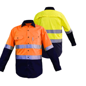 High Visibility Contrast Industrial Work Shirt, PLS335