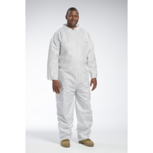 FR Disposable White Coveralls, IW1601